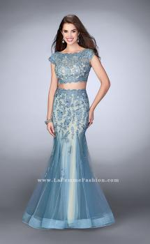 Picture of: Two Piece Lace Dress with Scallops and a Tulle Skirt, Style: 23567, Main Picture