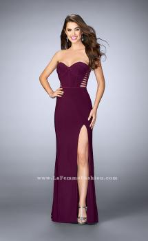 Picture of: Strapless Dress with Corset Piping and Strappy Back, Style: 23592, Main Picture