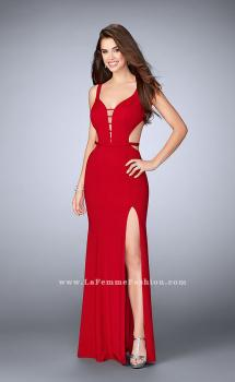 Picture of: Long Strappy Prom Dress with Side Slit, Style: 23631, Main Picture