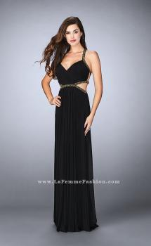 Picture of: Beaded Long Prom Dress with Intricate Cut Out Back, Style: 23632, Main Picture