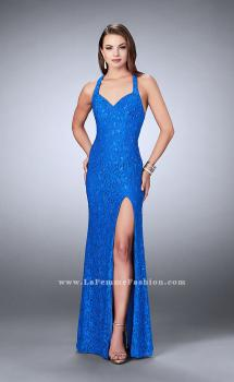 Picture of: Beaded Lace Dress with a Sweetheart Neckline in Blue, Style: 23638, Main Picture