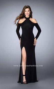 Picture of: Could Shoulder Long Sleeve Prom Dress with Slit, Style: 23676, Main Picture
