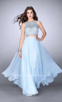 Picture of: Two Piece Prom Dress with A-line Skirt and Lace, Style: 23775, Main Picture
