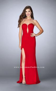 Picture of: Strapless Jersey Dress with a Deep V Neckline and Slit, Style: 23816, Main Picture
