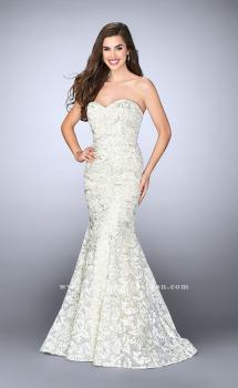 Picture of: Strapless Lace Mermaid Dress with Sweetheart Neckline in White, Style: 23840, Main Picture