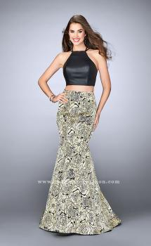 Picture of: Two Piece Mermaid Dress with Rose Printed Skirt, Style: 23872, Main Picture