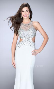Picture of: Beaded Jersey Dress with Sheer Sweetheart Neckline, Style: 23896, Main Picture