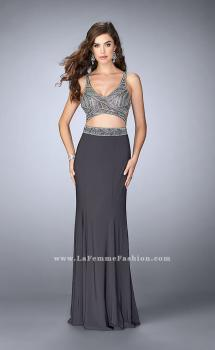 Picture of: Beaded Two Piece Dress with a Fitted Skirt and Cut Outs, Style: 23904, Main Picture