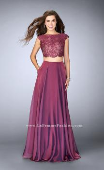 Picture of: Two Piece A-line Dress with Scalloped Top and Pockets, Style: 23922, Main Picture