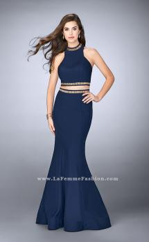 Picture of: Prom Dress with High Collar and Mermaid Skirt in Blue, Style: 23932, Main Picture