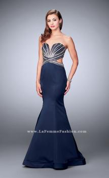 Picture of: Beaded Mermaid Prom Dress with Open Back, Style: 23944, Main Picture