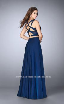 Picture of: Two Piece A-line Chiffon Dress with Sweetheart Neckline in Blue, Style: 23979, Main Picture