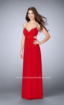 Picture of: Net Jersey Dress with Beaded Sweetheart Neckline in Red, Style: 23988, Main Picture