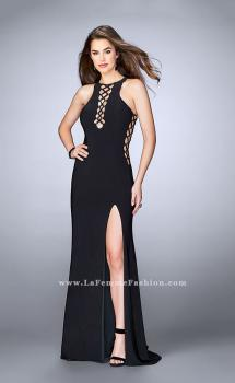 Picture of: Fitted Jersey Dress with Lace Up Neckline and Sides, Style: 23989, Main Picture