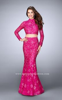 Picture of: Long Sleeve Two Piece Lace Dress with Open Back, Style: 24013, Main Picture
