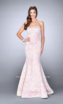 Picture of: Long Strapless Floral Print Prom Dress, Style: 24020, Main Picture