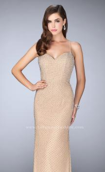 Picture of: Long Beaded Prom Dress with Sweetheart Neckline, Style: 24062, Main Picture