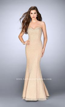 Picture of: Strapless Beaded Prom Dress with Sweetheart Neckline in Nude, Style: 24137, Main Picture