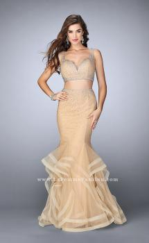 Picture of: Long Tulle Mermaid Prom Gown with Rhinestones, Style: 24157, Main Picture