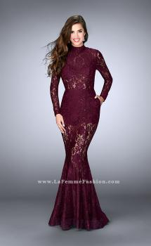 Picture of: Sheer Lace Romper Dress with Open Back and Pockets, Style: 24164, Main Picture