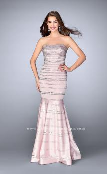 Picture of: Beaded Satin Mermaid Dress with Sweetheart Neckline in Pink, Style: 24180, Main Picture