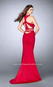 Picture of: Two Piece Racer Back Neoprene Dress with Cut Outs in Red, Style: 24231, Main Picture
