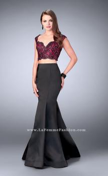 Picture of: Long Two Piece Mermaid Dress with Beaded Lace Top, Style: 24235, Main Picture