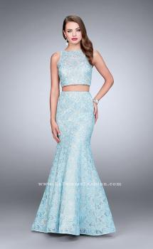Picture of: Two Piece Lace Prom Dress with Mermaid Skirt in Blue, Style: 24269, Main Picture
