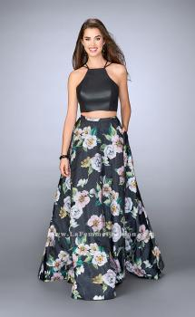 Picture of: Floral Two Piece Dress with Strappy Back and Pockets, Style: 24280, Main Picture