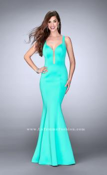 Picture of: Neoprene Mermaid Prom Dress with Cut Out Back, Style: 24360, Main Picture