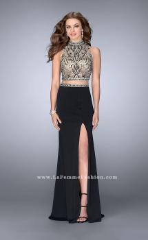 Picture of: Two Piece Prom Dress with Open Back and Cut Outs, Style: 24390, Main Picture