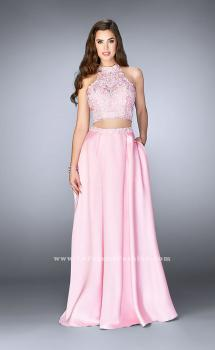 Picture of: A-line Lace Two Piece Dress with Floral Embroidery in Pink, Style: 24407, Main Picture