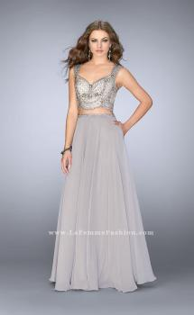 Picture of: A-line Two Piece Dress with Beaded Top and Pockets, Style: 24417, Main Picture