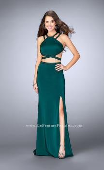 Picture of: Beaded strappy two piece with a high neckline in Green, Style: 24420, Main Picture