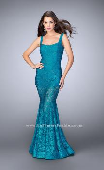Picture of: Lace Mermaid Romper Dress with an Open Back, Style: 24466, Main Picture