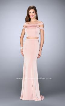 Picture of: Off the Shoulder Two Piece Dress with Strappy Back in Pink, Style: 24520, Main Picture