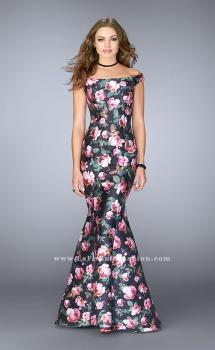 Picture of: Floral Off the Shoulder Mermaid Prom Dress, Style: 24551, Main Picture