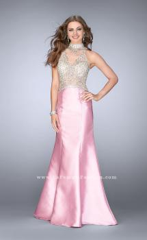 Picture of: Beaded Prom Gown with Mermaid Skirt and Beading in Pink, Style: 24562, Main Picture
