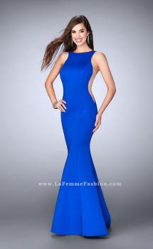 Picture of: Mermaid Neoprene Prom Gown with Sheer Sides, Style: 24606, Main Picture