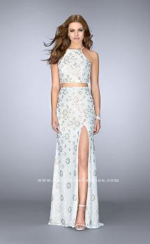Picture of: Two Piece White Lace Dress with Multi Color Beading in White, Style: 24678, Main Picture