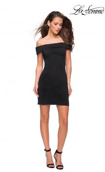 Picture of: Off the Shoulder Chic Little Black Dress in Black, Style: 27087, Main Picture