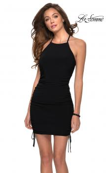 Picture of: Form Fitting Homecoming Dress with Adjustable Length in Black, Style: 29425, Main Picture