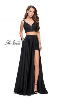 Picture of: Two Piece Prom Dress with Shorts and Strappy Back, Style: 25288, Main Picture