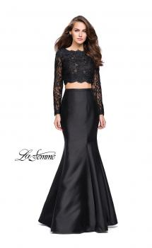 Picture of: Two Piece Mermaid Dress with Lace Top and Rhinestones, Style: 25324, Main Picture