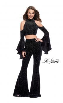 Picture of: Two Piece Sparkling Pants Set with Shoulder Cutouts, Style: 25410, Main Picture