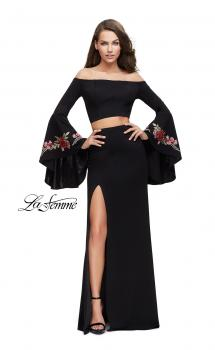 Picture of: Two Piece Off the Shoulder Dress with Long Bell Sleeves, Style: 25741, Main Picture