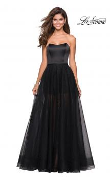 Picture of: Strapless Gown with Tulle Rhinestone Skirt and Shorts, Style: 27522, Main Picture