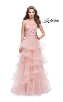 Picture of: Long Tulle Gown with Sweetheart Neckline in Blush, Style: 25430, Main Picture