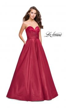 Picture of: Strapless Ball Gown with Wrapped Bodice and Pockets, Style: 25953, Main Picture