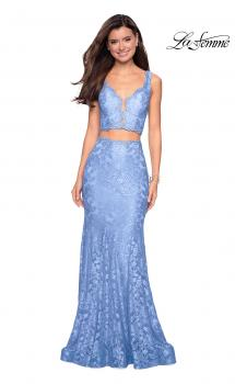 Picture of: Two Piece Lace Prom Dress with Rhinestones, Style: 27302, Main Picture